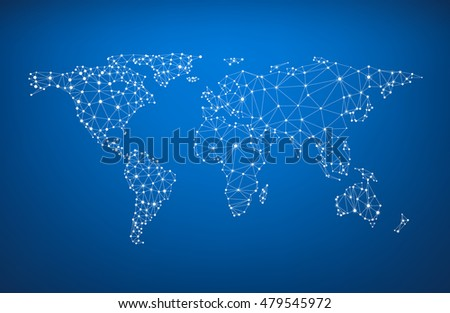 Blue global communications world map vector stock vector hd royalty blue global communications world map vector paper illustration gumiabroncs Choice Image