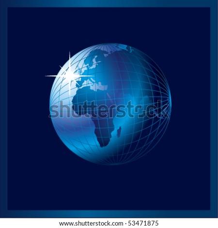 Blue globe - stock vector