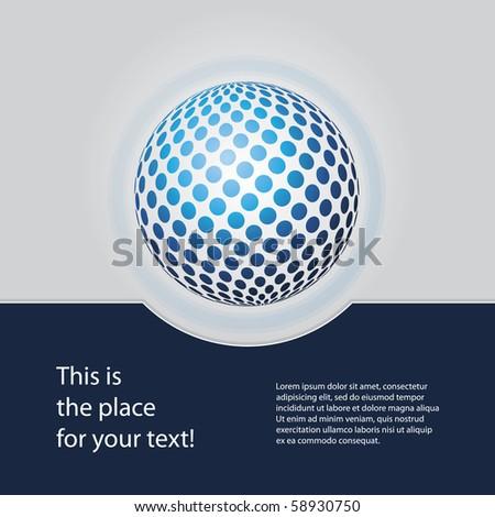 Blue Globe Design Vector - stock vector