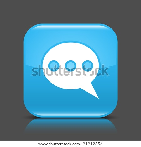 Blue Glossy Web Button Chat Room Stock Vector 91912856 Shutterstock