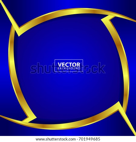 blue gold abstract background vector design stock vector