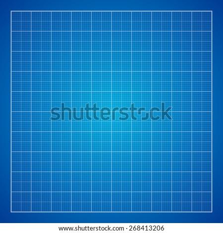 Blue graph paper background, excellent vector illustration, EPS 10 - stock vector