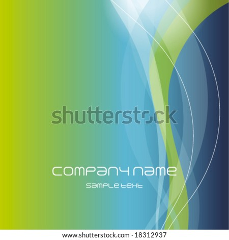 Blue Green abstract background - trendy business website  template with copy space Contemporary texture - stock vector