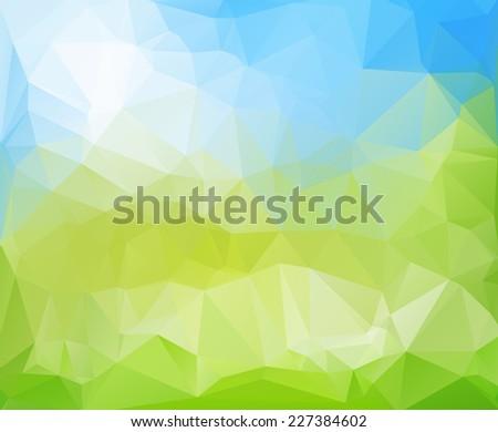 Light Blue And Green Background Blue Green Light Polygonal