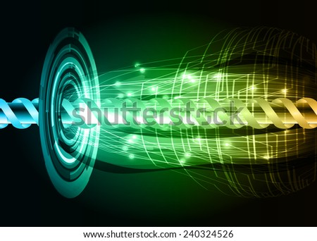 blue green orange color abstract technology background for for computer graphic website internet and business - stock vector