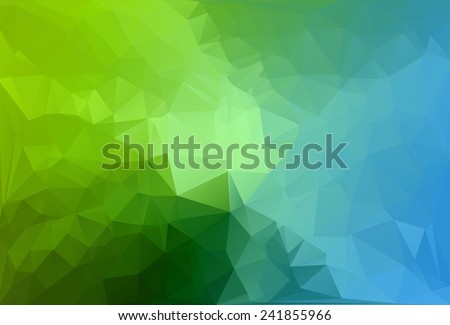 Blue Green Polygonal Mosaic Background, Vector illustration,  Creative  Business Design Templates - stock vector