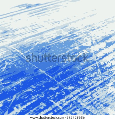 Blue Grunge Background. Distress Color Texture For Your Design. Vector illustration.