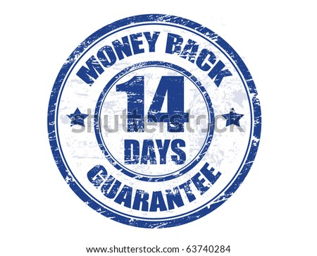 Blue grunge rubber stamp with the text money back guarantee written inside the stamp, vector illustration - stock vector