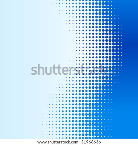 Blue half-tone background. Vector illustration. - stock vector
