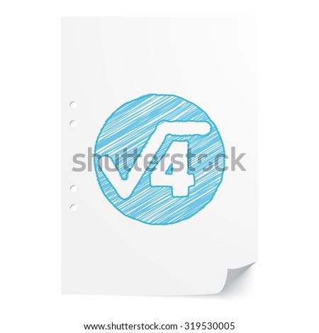 Blue Handdrawn Square Root Illustration On Stock Vector 319530005