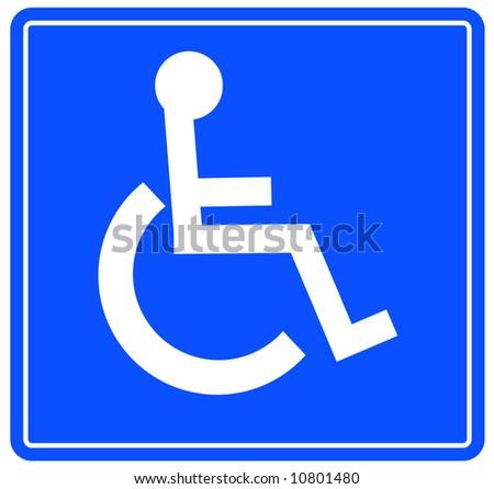 blue handicap parking or wheelchair accessible sign - vector - stock vector