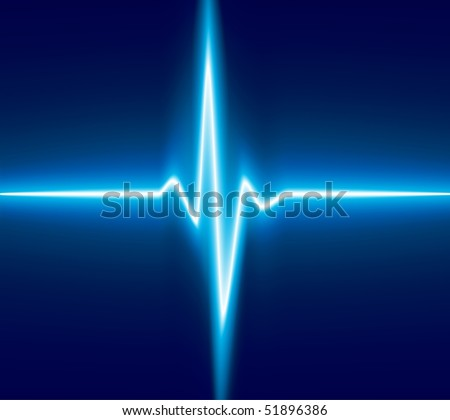 Blue heart beat. Ekg graph. - stock vector