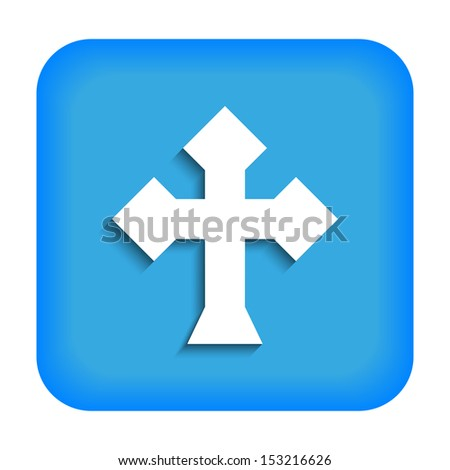 Blue icon with the image of rustrakehner color crosses ace - stock vector