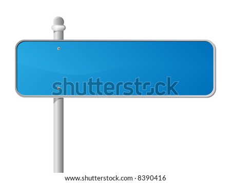 Blue Information Sign over white. vector illustration. Each element on a separate layer. - stock vector