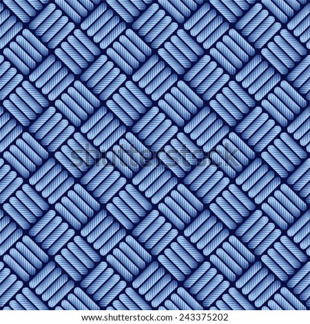 Blue jean cloth seamless pattern. - stock vector