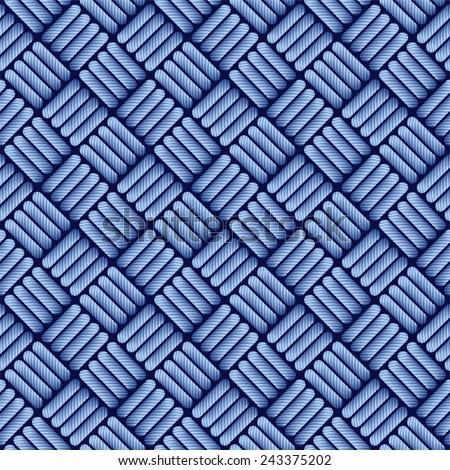 Blue jean cloth seamless pattern. - stock vector