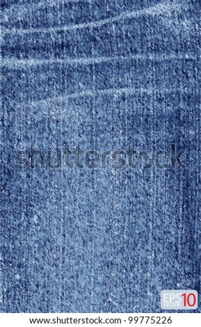 blue jean vector background - stock vector