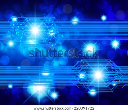 blue Light Abstract Technology background for computer graphic website and internet. circuit board. star