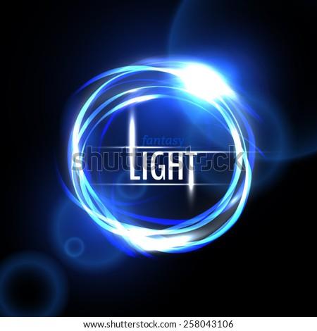 Blue light circle  - stock vector