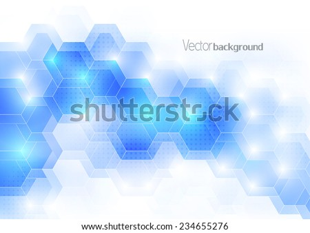 Blue light color abstract digital geometric template.  Cover design template layout for corporate business card, book, booklet, brochure, flyer, poster, banner. Vector - stock vector