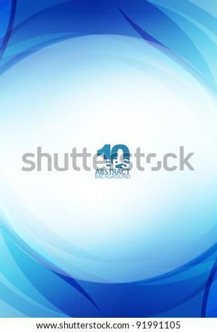 Blue light wave - stock vector