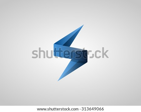 Blue Lighting Bolt Flash. Logo Design Vector Element. Fast Quick Rapid Icon Concept Symbol. Vector Illustration - stock vector