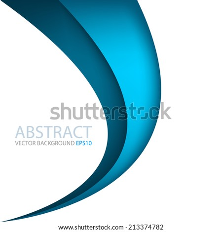 Blue line on white background overlap layer paper for text and message modern website design - stock vector