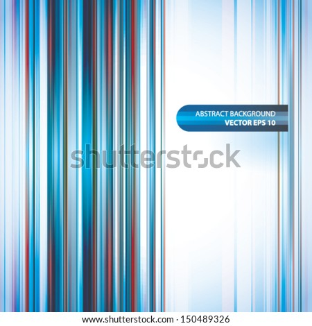 Blue lines abstract vector background EPS 10 - stock vector