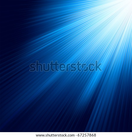 Blue luminous rays. EPS 8 vector file included - stock vector