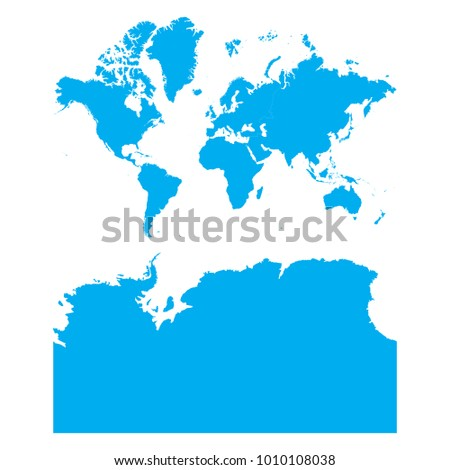 Blue map continents antarctica russia split stock vector hd royalty blue map of continents with antarctica russia split gumiabroncs Choice Image