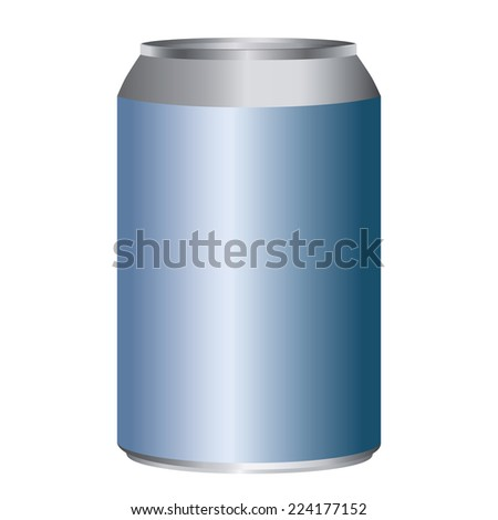 Blue metal can adjustable high size isolated on white - stock vector