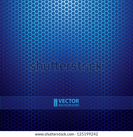 Blue metallic grid background. RGB EPS 10 vector illustration - stock vector