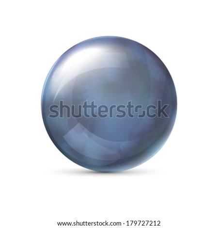 Blue metallic sphere - stock vector