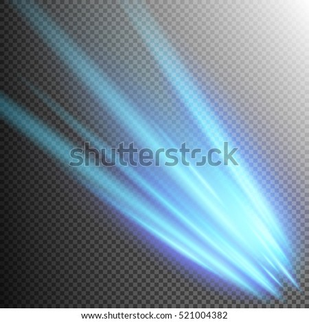 Blue Meteor or Comet. EPS 10 vector file included