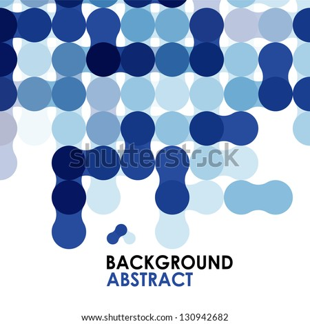 Blue modern circles geometric abstract background - stock vector