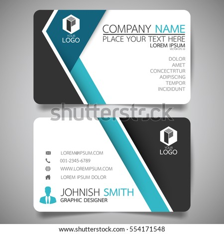 Blue modern creative business card name stock vector 554171548 blue modern creative business card and name cardhorizontal simple clean template vector design reheart Gallery