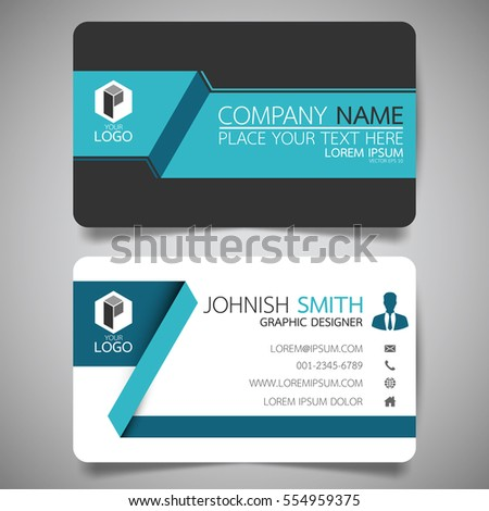 blue modern creative business card name stock vector 554959375