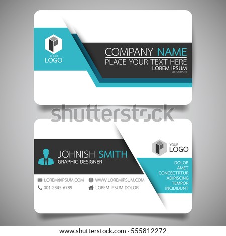 Blue modern creative business card name stock vector 555812272 blue modern creative business card and name cardhorizontal simple clean template vector design reheart Image collections