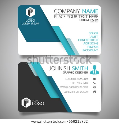 Awesome Blue Modern Creative Business Card And Name Card,horizontal Simple Clean  Template Vector Design,