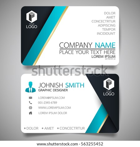 Blue Modern Creative Business Card And Name Card,horizontal Simple Clean  Template Vector Design,