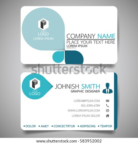 Blue Modern Creative Business Card Name Stock Vector 583952002