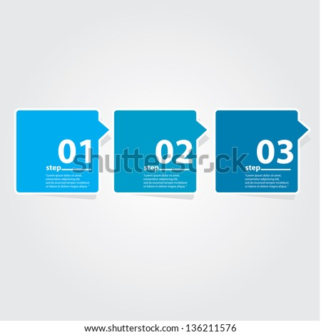 Blue modern Design template / can be used for infographics / numbered banners / horizontal cutout lines / graphic or website layout vector - stock vector