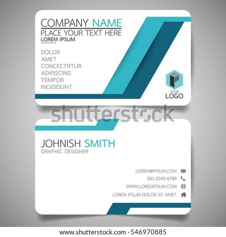 blue modern technology creative business card stock vector