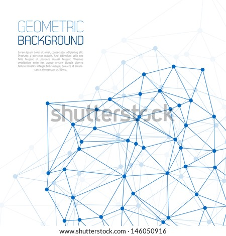 Blue Molecule And Communication Background - stock vector