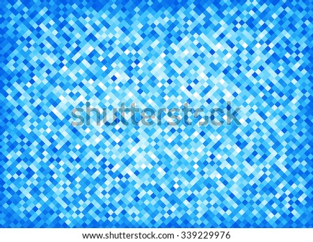 Blue mosaic background - stock vector