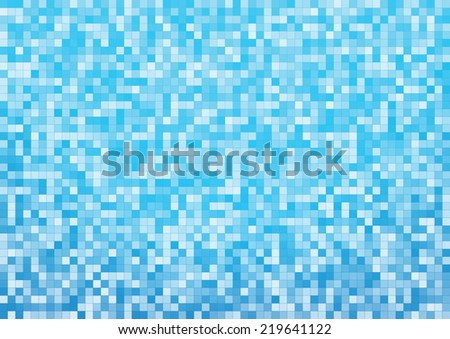 Blue Mosaic Background size A4 - stock vector