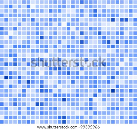 blue mosaic (Blue Tiles Background) - stock vector