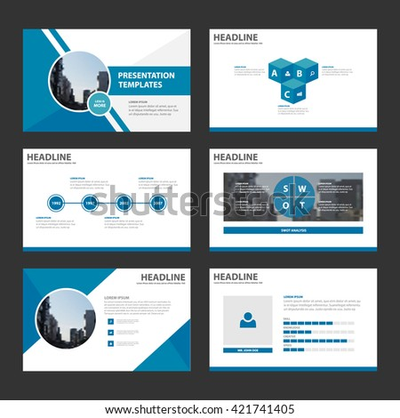 setting up a powerpoint template - blue multipurpose presentation template flat design stock