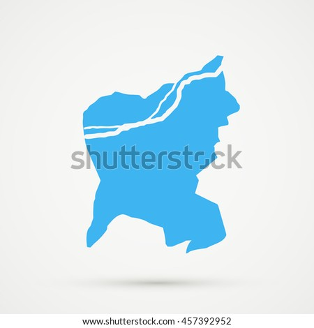 Blue Municipality Aarau Aarau District Canton Stock Vector 457392952