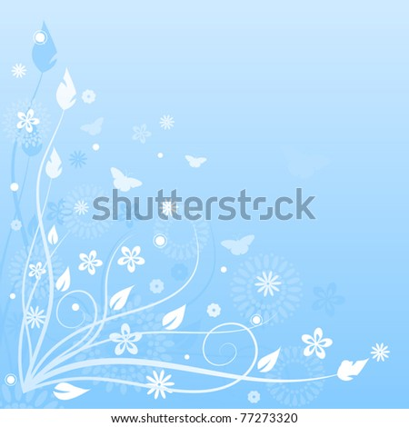 Blue nature background.Vector illustration.
